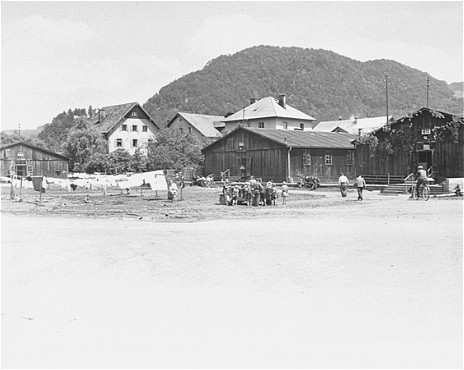 View of the Salzburg displaced persons camp. Salzburg, Austria, May 25, 1945.