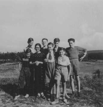 Jewish children sheltered by the Protestant population of the village of Le Chambon-sur-Lignon. France, 1941.