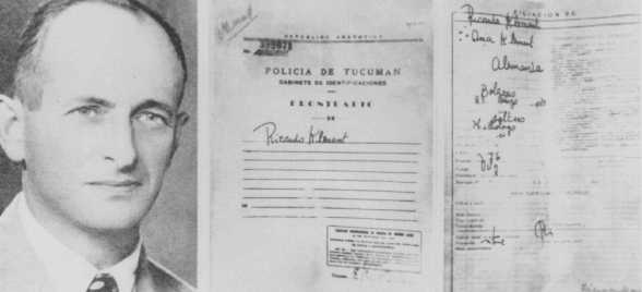 False identification papers used by Adolf Eichmann while he was living in Argentina under the assumed name Ricardo Klement.