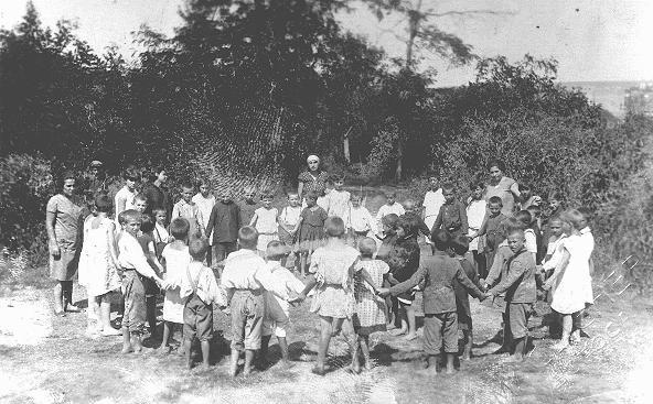 Jewish children at a summer camp. Bendery, Romania, ca. 1936.