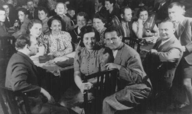 """Refugees from Nazi Germany on board the """"St. Louis"""" en route to Cuba. The passengers will be denied entry into Cuba and the US and will be forced to return to Europe. 1939."""