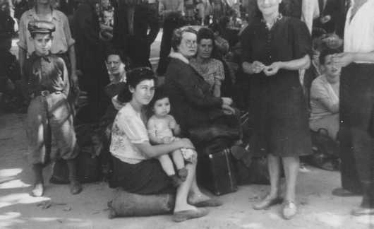 Polish Jewish refugees, part of the Brihah (the postwar mass flight of Jews from eastern Europe), arrive in Vienna. Austria, summer 1946.