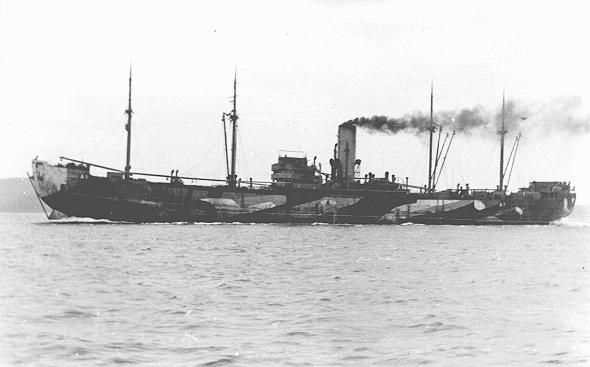 "The ""Donau,"" one of the largest ships used to deport Jews from Norway to Germany. From Germany, hundreds of Norwegian Jews were deported to Auschwitz. Norway, 1943."