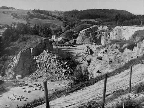 Carrière du camp de concentration de Mauthausen. Autriche, après 1945.