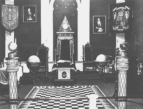 "Display, entitled ""British Freemasonry,"" in an anti-Masonic exhibition at a Berlin museum.  Germany, March 7, 1941."