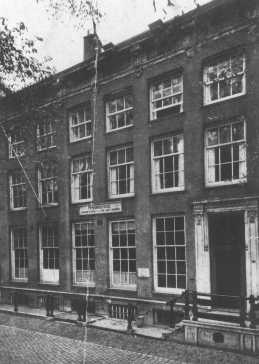 The house in Amsterdam where Tina Strobos hid over 100 Jews in a specially constructed hiding place. Her house was raided eight times, but the Jews were never discovered. Netherlands, date uncertain.
