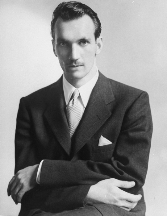 Jan Karski, underground courier for the Polish government-in-exile, informed the West in the fall of 1942 about Nazi atrocities against Jews taking place in Poland. Washington, DC, United States, 1943.