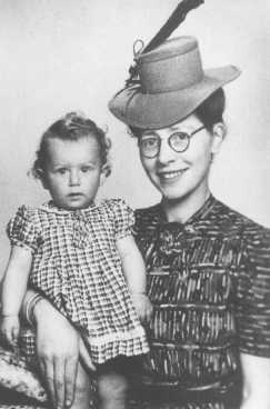 "Semmy Woortman-Glasoog with Lientje, a 9-month-old Jewish girl she hid. Woortman-Glasoog was active in a network which found foster homes, hiding places, and false papers for Jewish children. She was later named ""Righteous Among the Nations."" Amsterdam, the Netherlands, between 1942 and 1944."