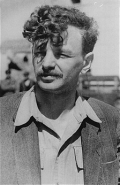 Yitzhak (Antek) Zuckerman, Zionist youth leader and a founder of the Jewish Fighting Organization (ZOB). He fought in the Warsaw ghetto uprising. Place and date uncertain.