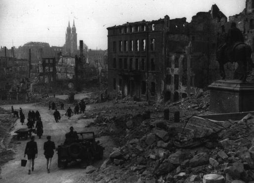 View of the bombed-out city of Nuremberg.