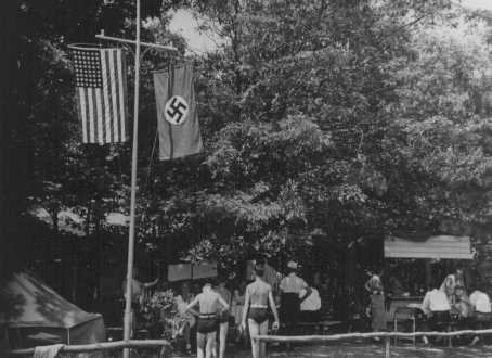 Summer camp on Long Island for young members of the pro-Nazi German American Bund. New York, United States, 1938.