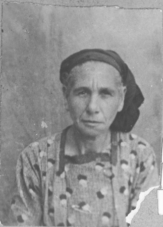 Portrait of Vida Kalderon, wife of Yakov Kalderon. She lived at Orisarska 2 in Bitola.