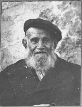 Portrait of David Pesso. He was a dealer of second-hand items. He lived at Novatska 4 in Bitola.