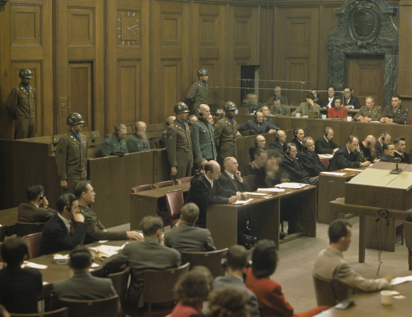 Former German Lieutenant General Walter Kuntze, a defendant in the Hostage Case, is sentenced to life imprisonment by the American military tribunal at Nuremberg. February 19, 1948. (Source record ID: A65III/RA-97-D)
