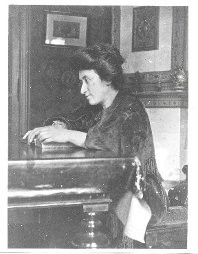 Portrait of Rosa Luxemburg.