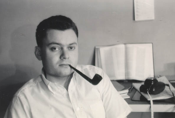 Thomas as a student at New York University, 1957-1960.