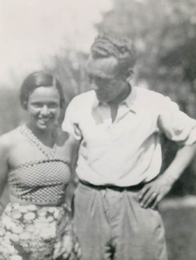 Thomas's parents, Mundek and Gerda (b. 1912). Czechoslovakia, 1933 or 1934.