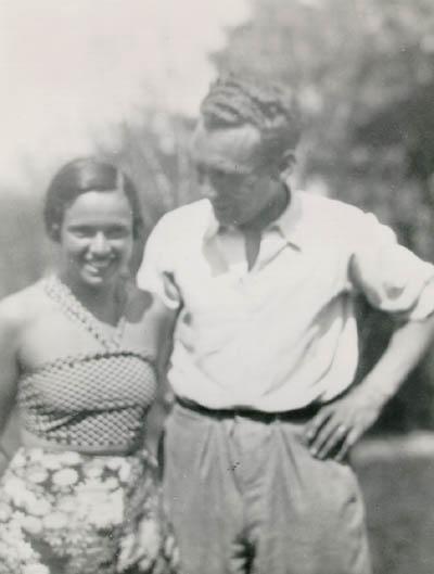 Thomas's parents, Mundek and Gerda (b. 1912). Czechoslovakia, 1933 or 1934.