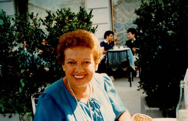 1984 photo of Thomas's mother, Gerda, at age 72.