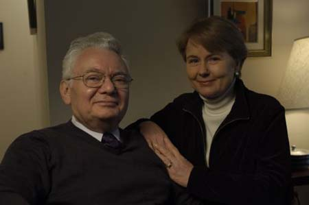 Photograph of Thomas with his wife, Peggy.