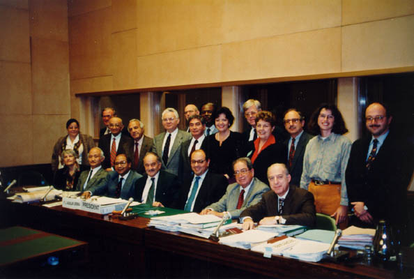 Judge Thomas Buergenthal (top row, fifth from left) and other members of the United Nations Human Rights Committee. 1995.