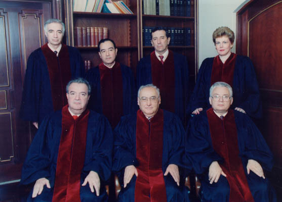 Judge Thomas Buergenthal (front row, right) with other members of the Inter-American Court of Justice in San Jose, Costa Rica. Thomas served from 1979-1991 and was president from 1985-1987. San Jose, Costa Rica, 1980.