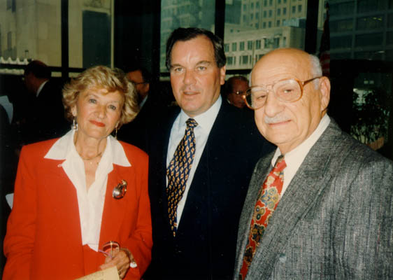 Lisa and Aron with Chicago Mayor Richard Daley on Holocaust Remembrance Day. Chicago, Illinois, 1994 or 1995.