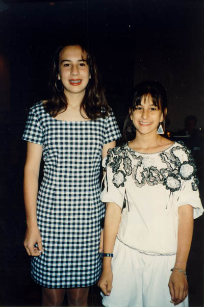 1991 photograph of Aron and Lisa's granddaughters, Courtney and Lindsay. The eldest, Courtney, graduated from Harvard Business School in 2004.