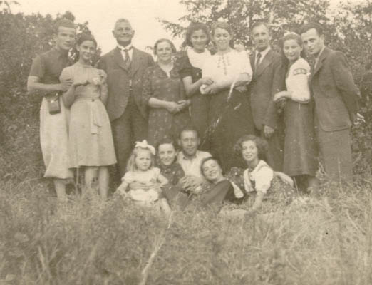 Photo taken a few weeks before World War II began. Regina is at the right of the front row. Kunow, Poland, July 28, 1939.