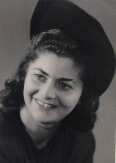 Regina's sister Hania (later Anna Wilson). Berlin, Germany, 1946.