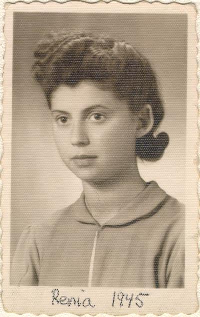 Photograph of Regina (Renia) taken on June 2, 1945, in Lodz, Poland.