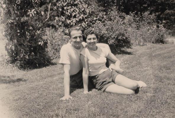 Regina with Victor Gelb in Vineland, New Jersey, 1952.