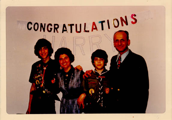 Celebration after one of Regina's sons, Harry, received the Eagle Scout Award. February 16, 1973.