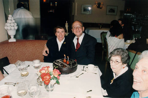 Regina and Victor celebrate their 50th wedding anniversary. New York City, May 3, 2003.