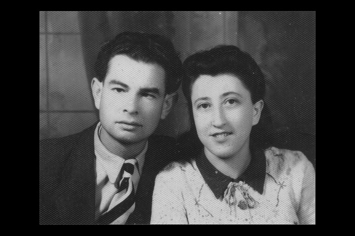 Gertrude Boyarski in her wedding portrait taken after the war, 1946.