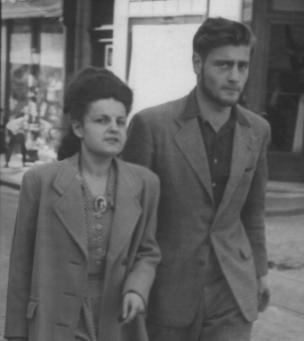 French Jewish partisan Bernard Musmand with Simone, a member of the French resistance. Photograph taken in Montpellier, France, during the war.