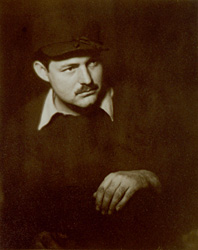 Portrait of Ernest Hemingway by Helen Pierce Breaker. Paris, France, ca. 1928.