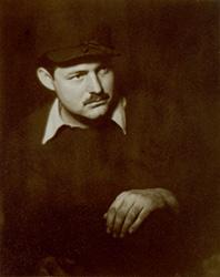 Portrait of Ernest Hemingway by Helen Pierce Breaker. Paris, France, ca. 1928.