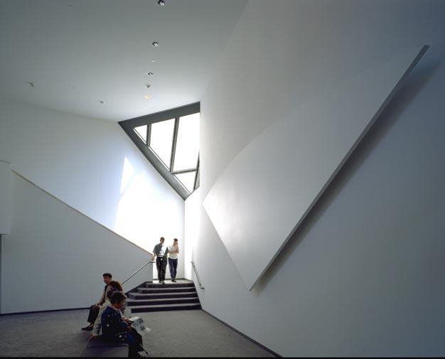 Third floor lounge in the United States Holocaust Memorial Museum.
