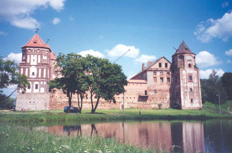 Picture of Mir castle taken in the mid-1990s.