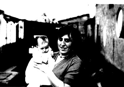 Ida Baehr Lang holding her infant daughter, Freya Karoline, in Lambsheim. Ida died in the mid-1940s after deportation to Auschwitz. Freya survived in hiding in France and reunited with her father in 1946. Lambsheim, Germany, ca. 1934.