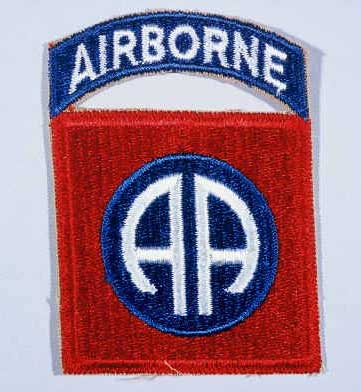 "Insignia of the 82nd Airborne Division. The nickname for the 82nd Airborne Division originated in World War I, signifying the ""All American"" composition of its members. The troops who formed the division came from diverse areas of the United States."