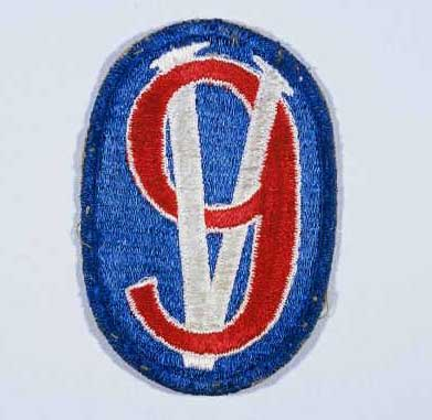 "Insignia of the 95th Infantry Division. The 95th Infantry Division, the ""Victory"" division, gained its nickname from the divisional insignia approved in 1942: the arabic numeral ""9"" combined with the roman numeral ""V"" to represent ""95."" The ""V"" led to the nickname, since the letter ""V"" was universally recognized as an Allied symbol for resistance and victory over the Axis during World War II."