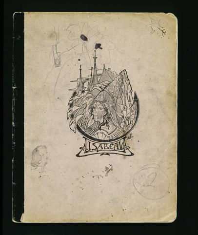 The cover of a diary written by Elizabeth Kaufmann while living with the family of Pastor André Trocmé in Le Chambon-sur-Lignon. Le Chambon-sur-Lignon, France, 1940-1941.