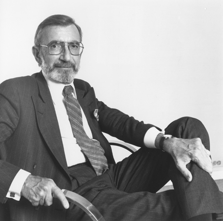 Portrait of James Ingo Freed, architect of the United States Holocaust Memorial Museum. New York, April 1992.