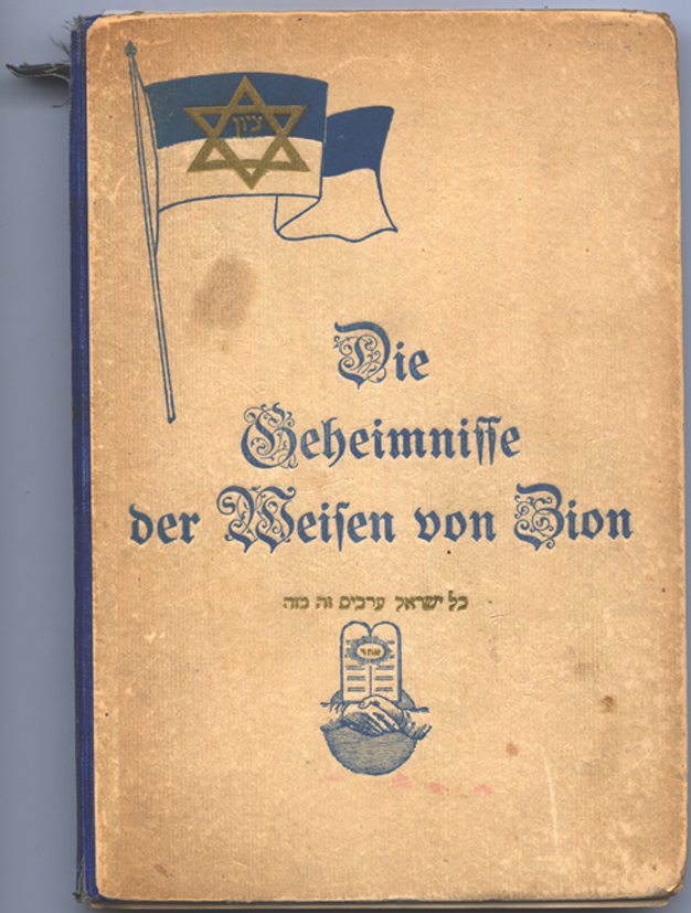 The Secrets of the Wise Men of Zion is the first documented version of the Protocols published outside of Russia. Published in Charlottenburg, Germany, 1920.