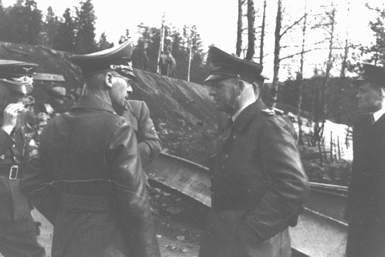 Josef Terboven (foreground, left), German commissioner for occupied Norway, 1940-1945.