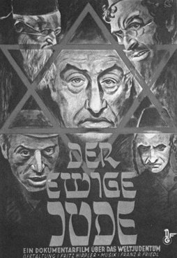 "Propaganda poster advertising the antisemitic film ""Der ewige Jude"" (The Eternal Jew). Germany, ca. 1940."