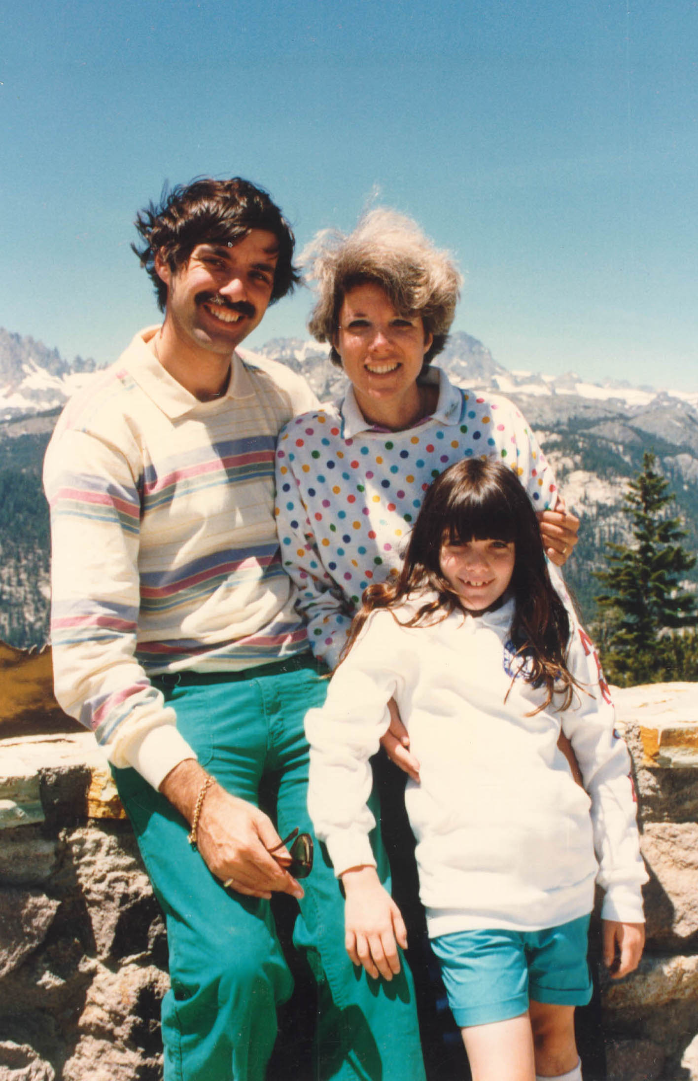 Blanka's daughter Shelly, son-in-law, and granddaughter Alexis Danielle on vacation.