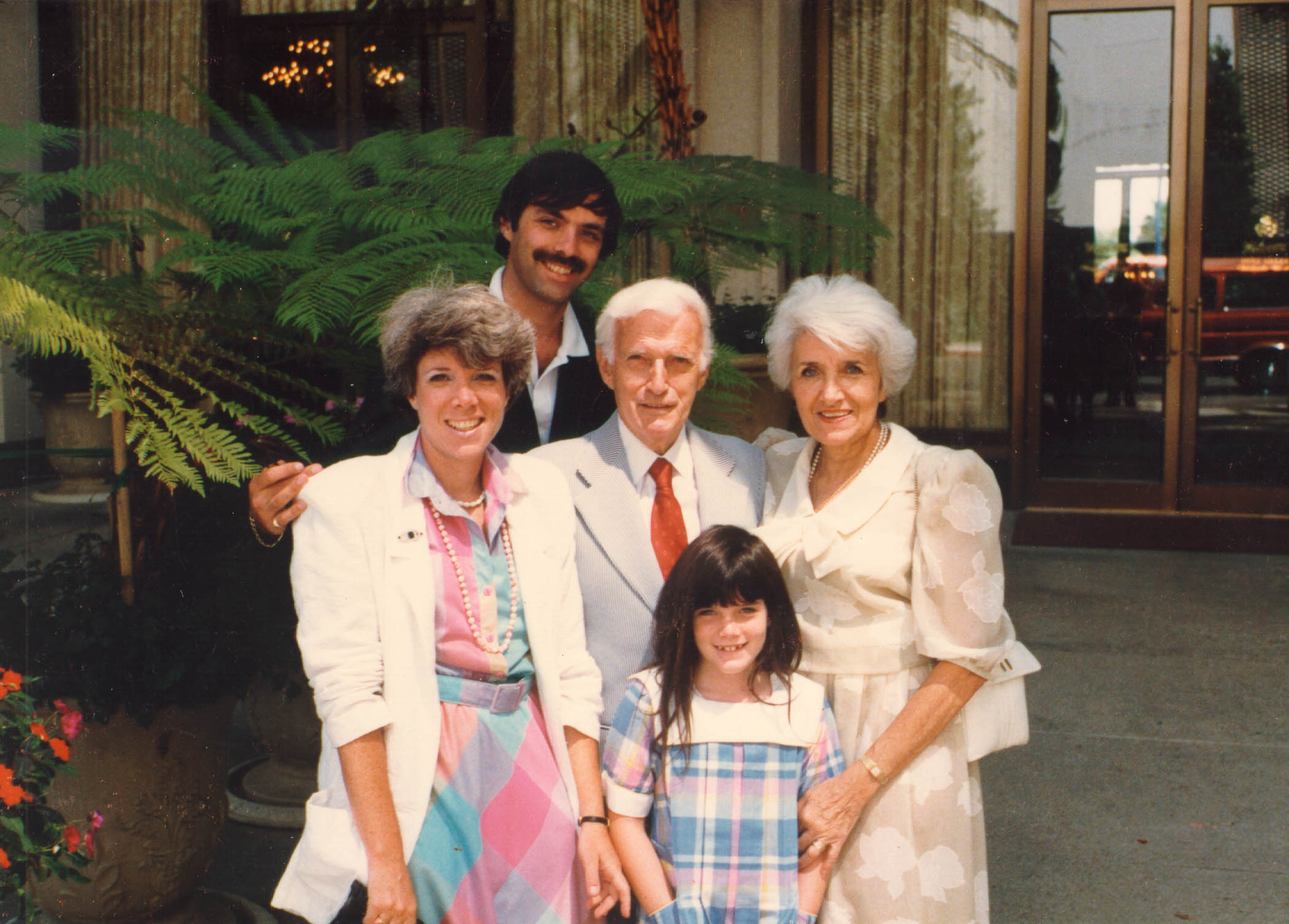 Blanka and Harry with their daughter Shelly, son-in-law, and granddaughter Alexis Danielle. San Diego, California.